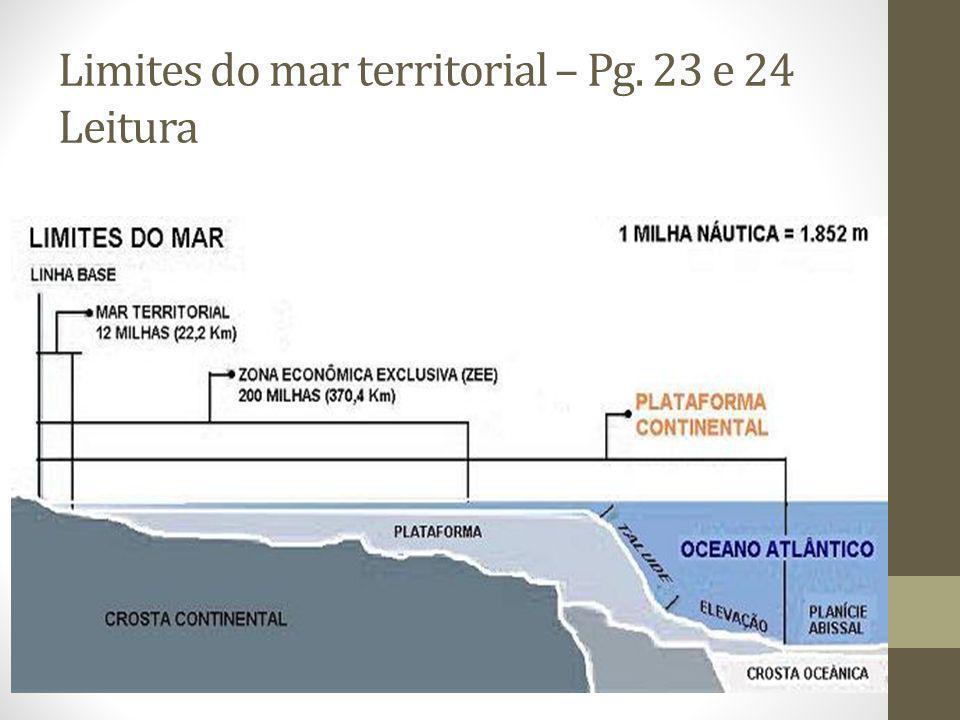 Limites do mar territorial – Pg. 23 e 24 Leitura