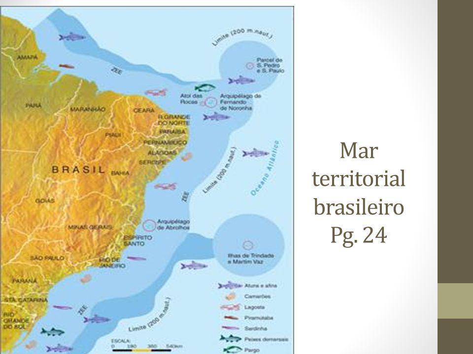 Limites e fronteiras do Brasil – Pg. 25 Extensão total das fronteiras secas do Brasil: 15.735 Km