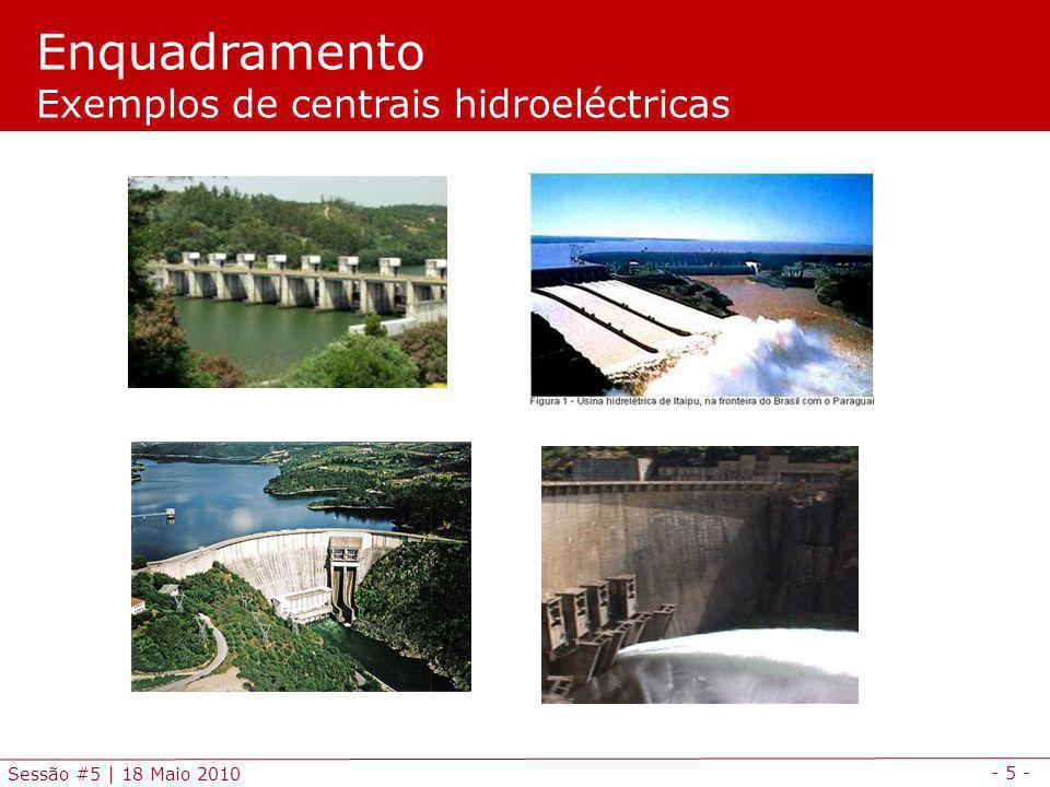 - 26 - Sessão #5 | 18 Maio 2010 O problema da Coordenação Hidro-térmica consiste na gestão dos recursos hidrícos disponíveis para a produção de energia eléctrica de forma coordenada com a produção de origem térmica por forma a minimizar o custo total de satisfação de um determinado diagrama de carga.