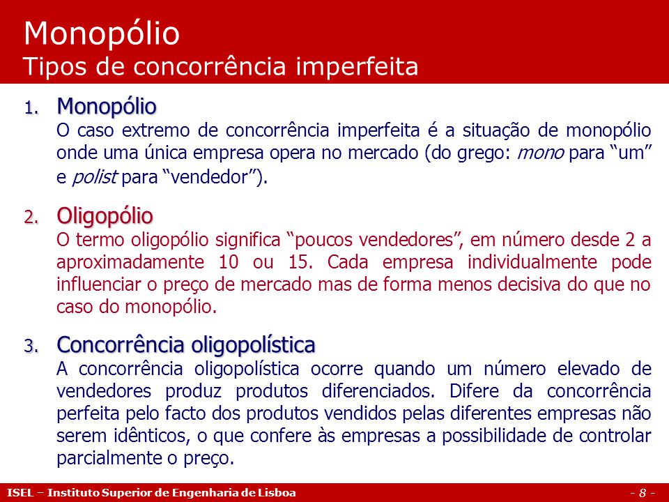 - 9 - ISEL – Instituto Superior de Engenharia de Lisboa Monopólio Max.