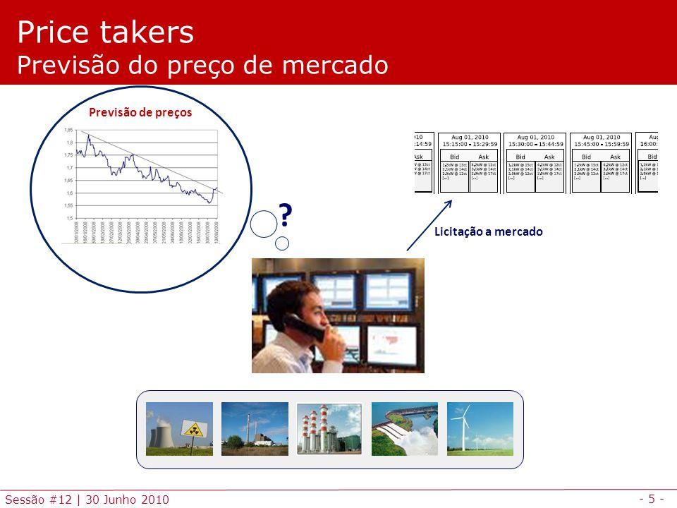- 6 - Sessão #12 | 30 Junho 2010 Agenda Enquadramento Agente sem poder de mercado – Price taker Agente com poder de mercado – Price maker Exercícios de aplicação