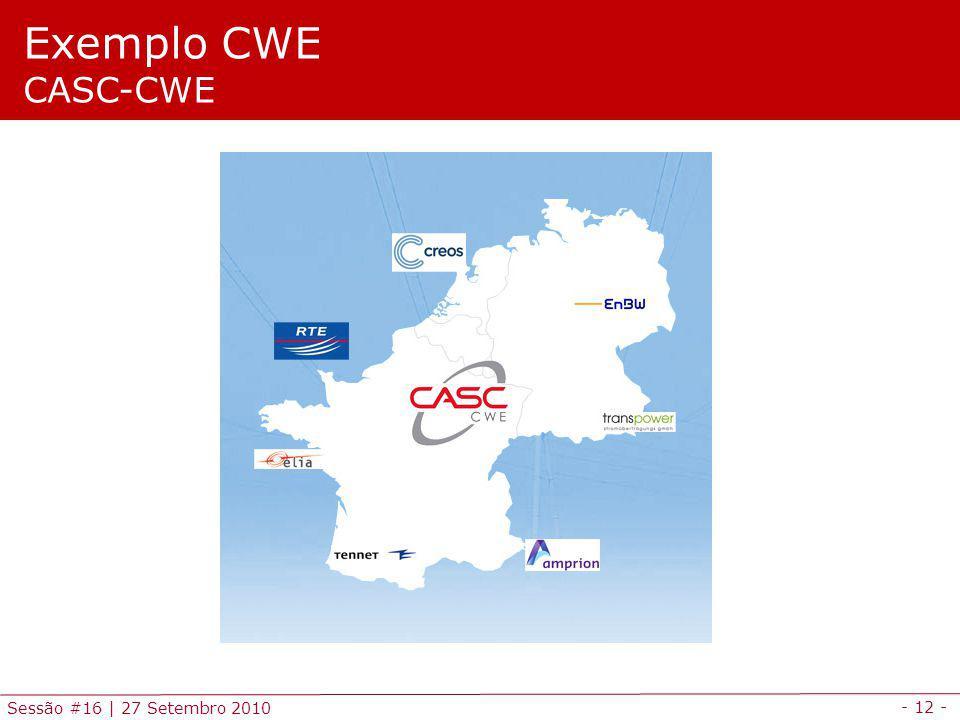 - 12 - Sessão #16 | 27 Setembro 2010 Exemplo CWE CASC-CWE