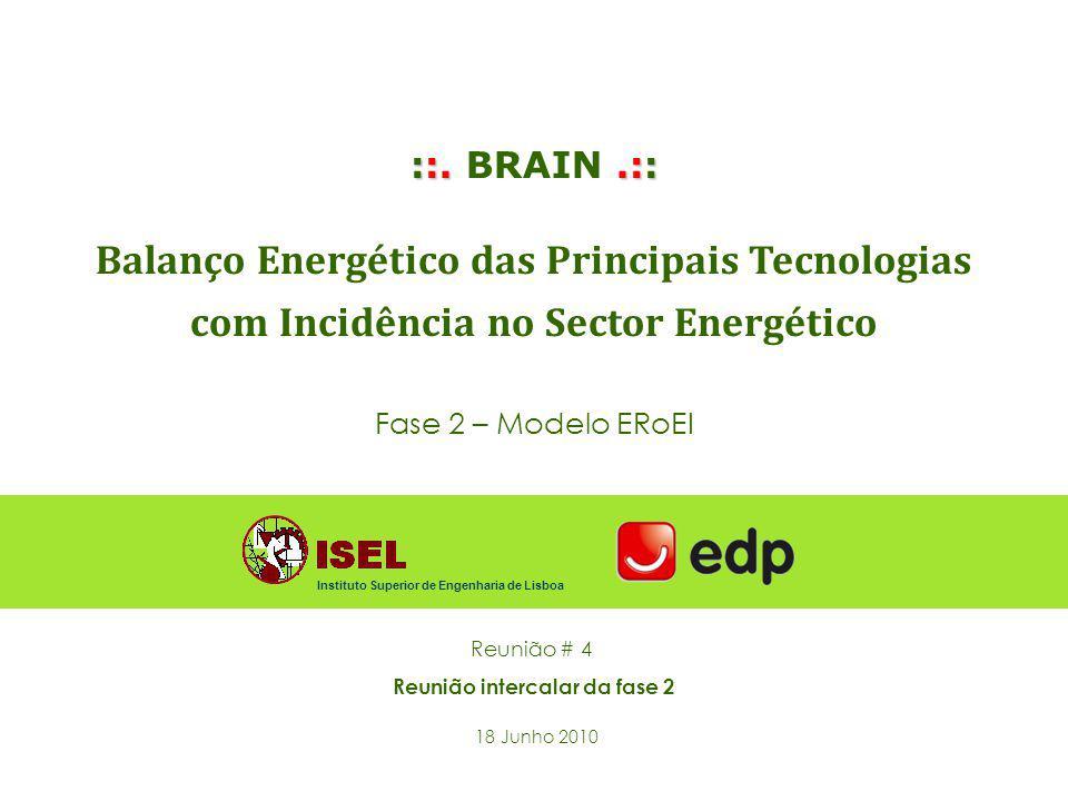 ::..:: ::. BRAIN.:: Balanço Energético das Principais Tecnologias com Incidência no Sector Energético Fase 2 – Modelo ERoEI Reunião # 4 Reunião interc