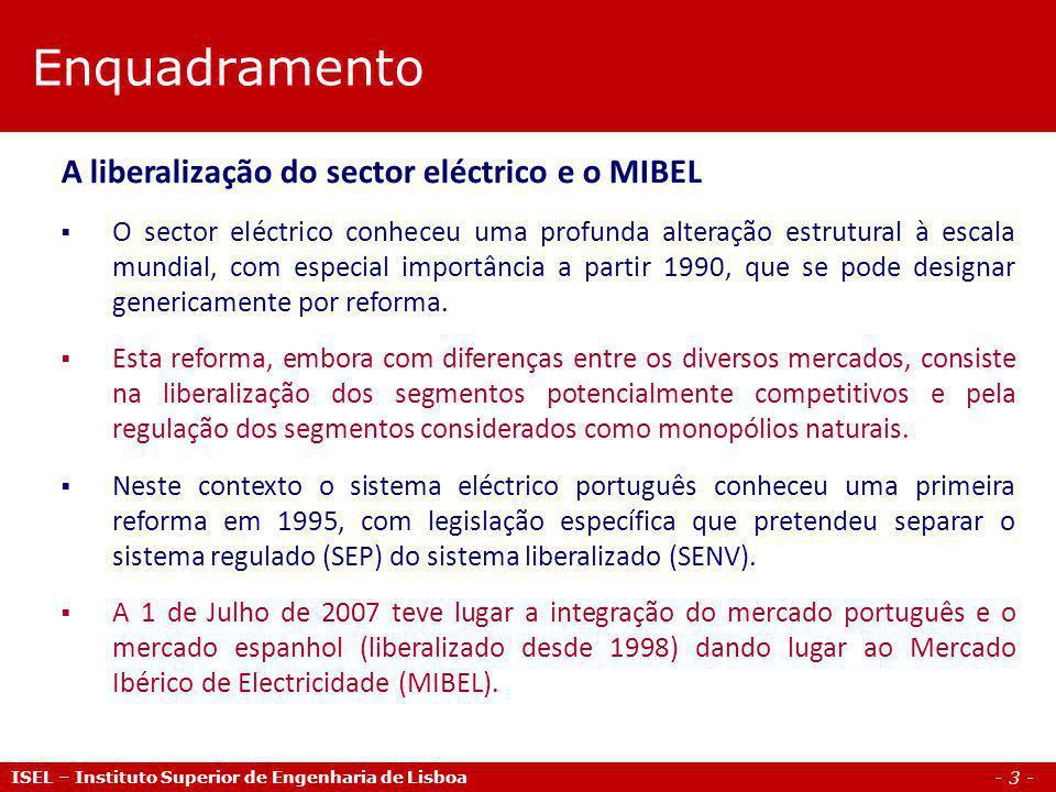- 14 - ISEL – Instituto Superior de Engenharia de Lisboa MIBEL – Mercado Ibérico de Electricidade OMEL – Ofertas de venda Curva da oferta Ofertas de venda As ofertas de venda são ordenadas de forma crescente para que as ofertas de preço inferior tenham prioridade sobre as ofertas de preço superior