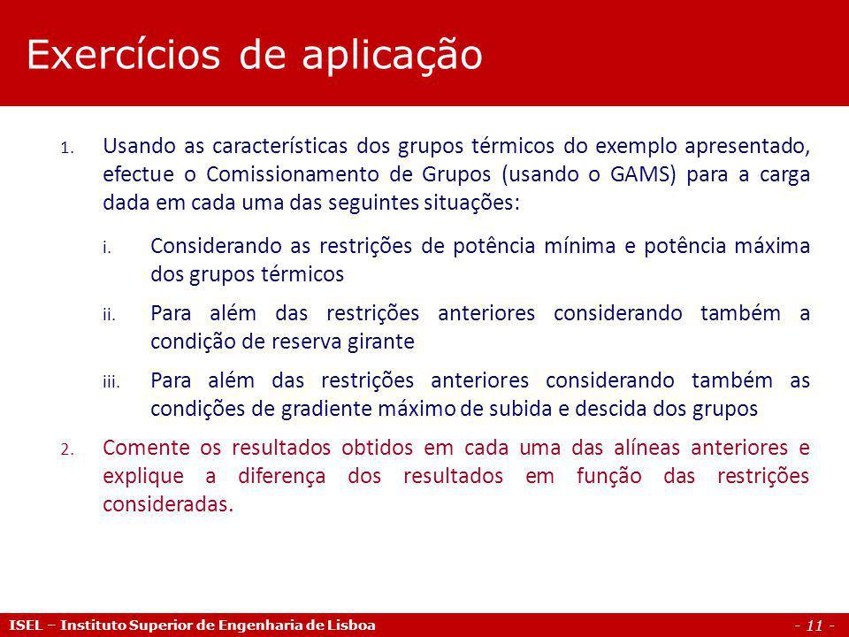 - 11 - ISEL – Instituto Superior de Engenharia de Lisboa 1.