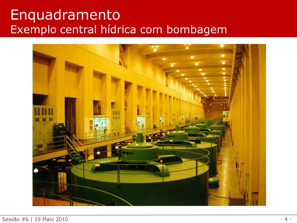 - 4 - Sessão #6 | 19 Maio 2010 Enquadramento Exemplo central hídrica com bombagem
