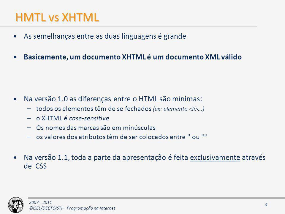 2007 - 2011 ©ISEL/DEETC/STI – Programação na Internet ImageMaps (1)...