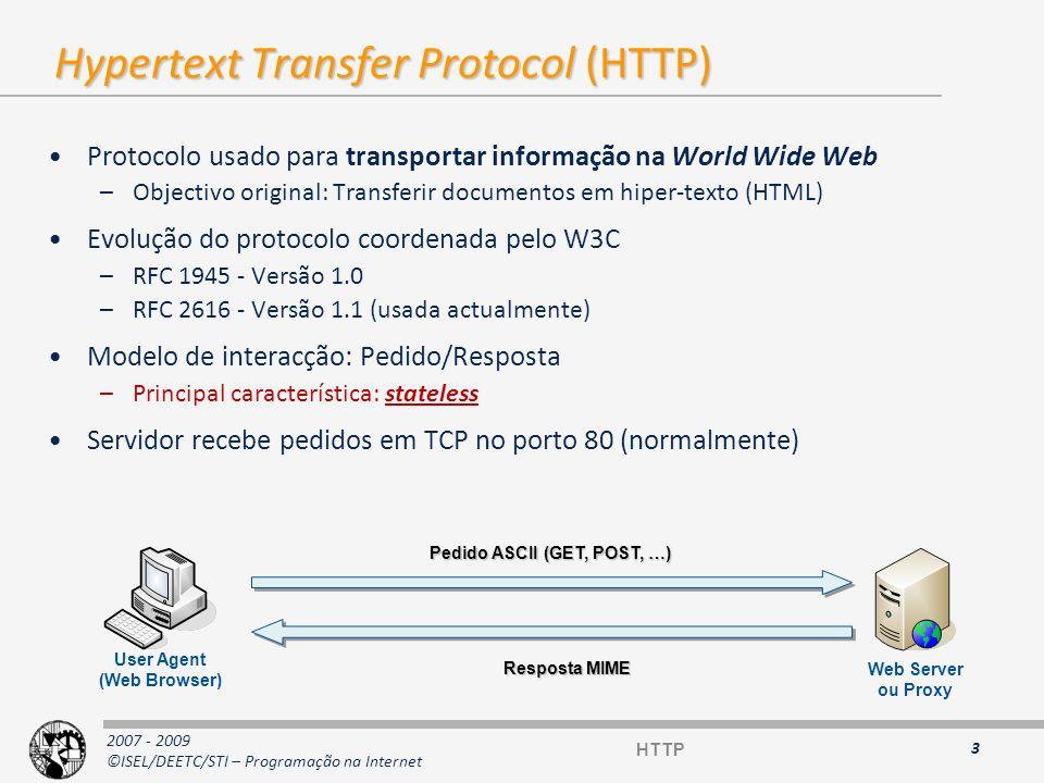2007 - 2009 ©ISEL/DEETC/STI – Programação na Internet Pedido no browser 4 Web server www.cc.isel.ipl.pt Local DNS server Authoritative DNS server for www.cc.isel.ipl.pt client www.cc.isel.ipl.pt IP address .