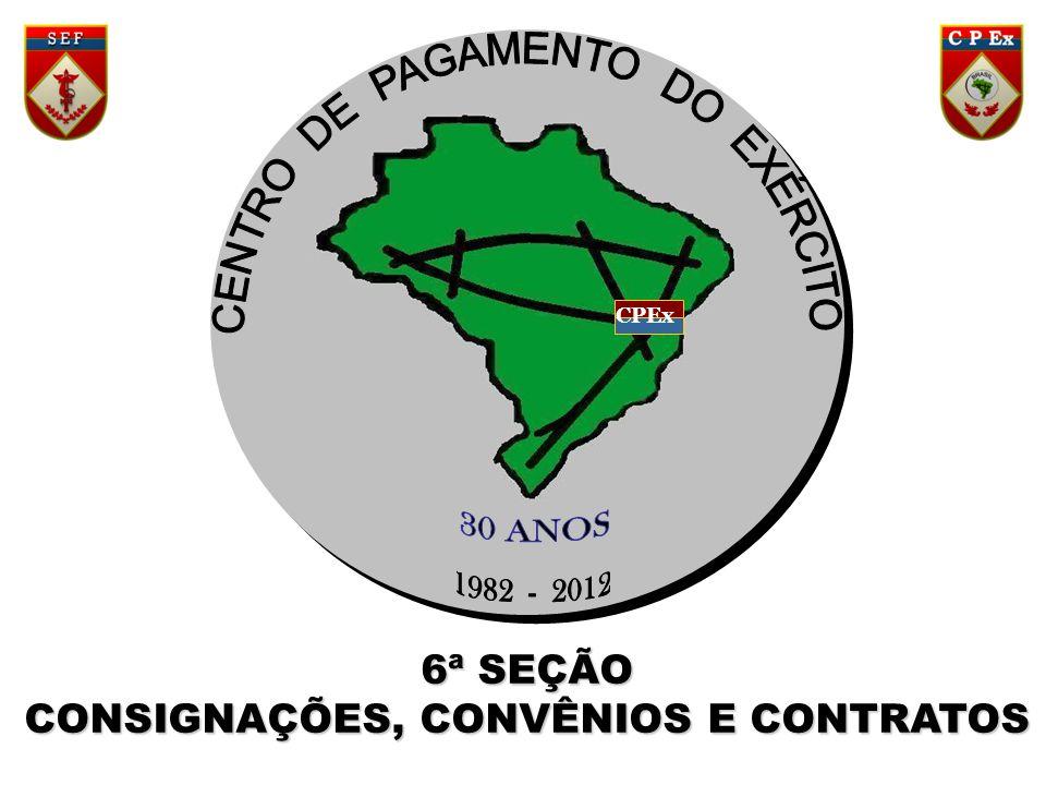 CPEx 6ª SEÇÃO CONSIGNAÇÕES, CONVÊNIOS E CONTRATOS