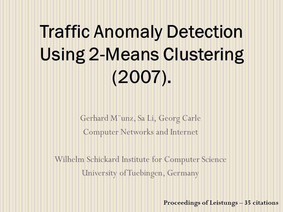 Apresentação Aplicação de métodos de mineração de dados para analise de pacotes e fluxo de dados capturados em uma rede.