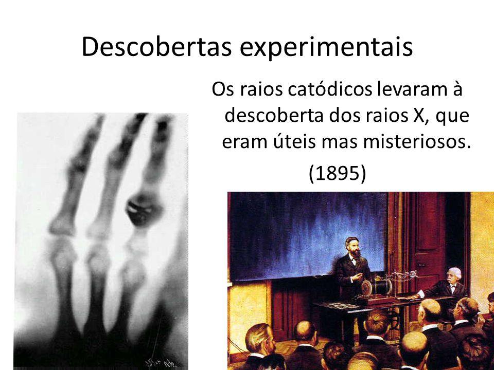 Os raios catódicos levaram à descoberta dos raios X, que eram úteis mas misteriosos. (1895) Descobertas experimentais