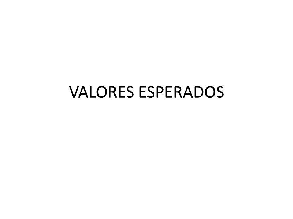 VALORES ESPERADOS