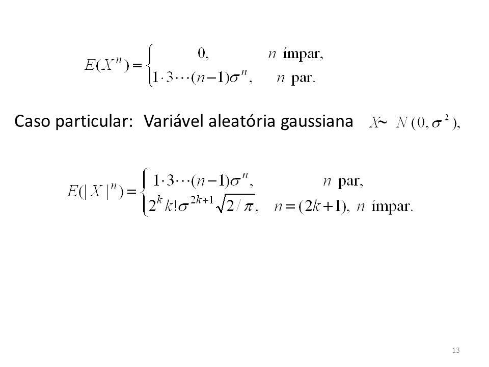 13 Caso particular: Variável aleatória gaussiana