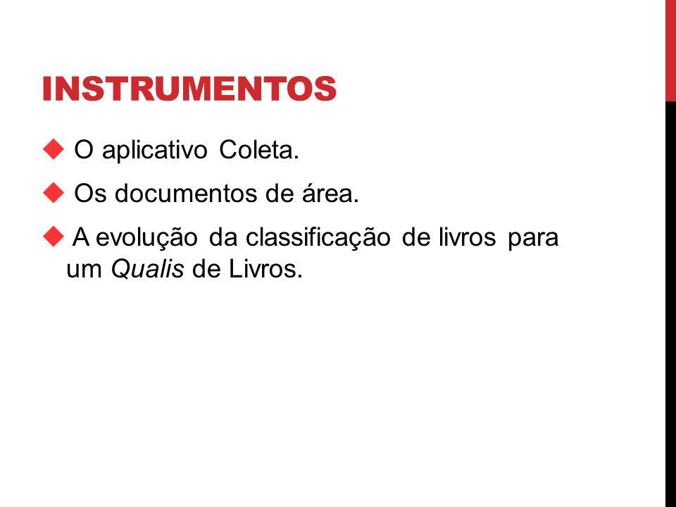 INSTRUMENTOS O aplicativo Coleta.Os documentos de área.