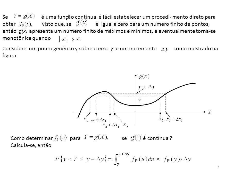 8 Mas o evento pode ser expresso em termos de X.