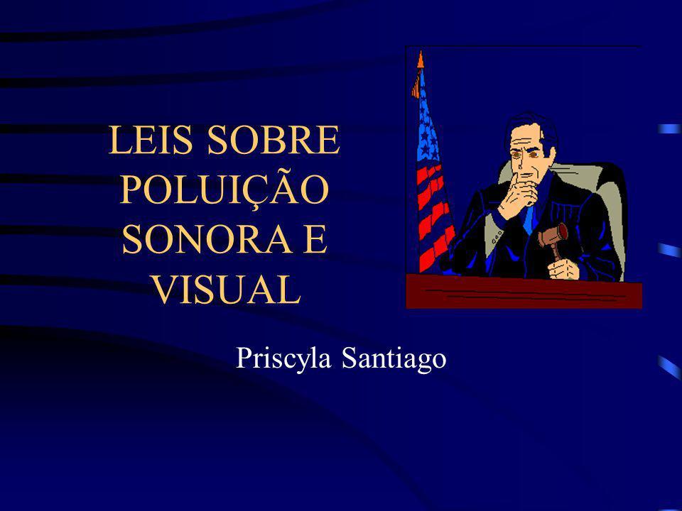 LEIS SOBRE POLUIÇÃO SONORA E VISUAL Priscyla Santiago