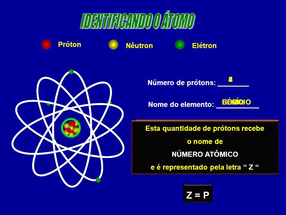 01)Um átomo tem número de massa 31 e 16 nêutrons.