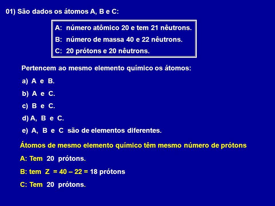 De acordo com a IUPAC (União Internacional de Química Pura e Aplicada), ao representar um elemento químico, devem-se indicar, junto ao seu SÍMBOLO, seu número atômico (Z) e seu número de massa (A) Notação Geral X Z A X Z A ou C 6 12 ClCl 17 35 Fe 26 56
