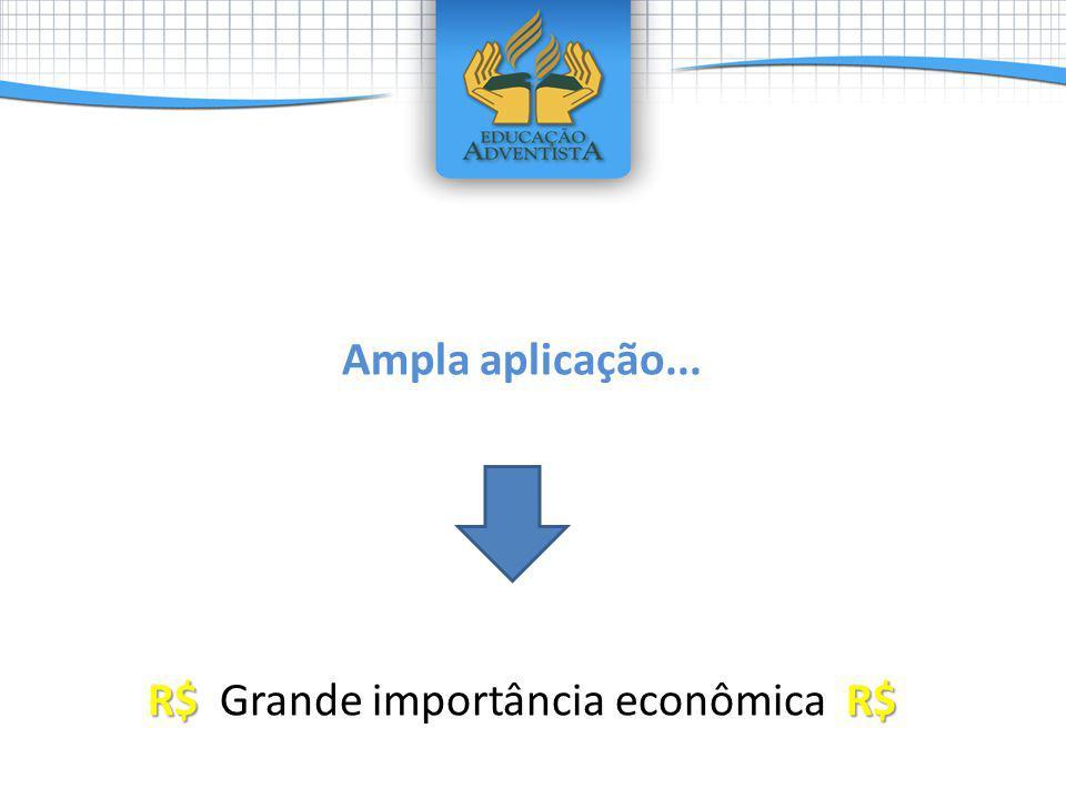 Ampla aplicação... R$R$ R$ Grande importância econômica R$