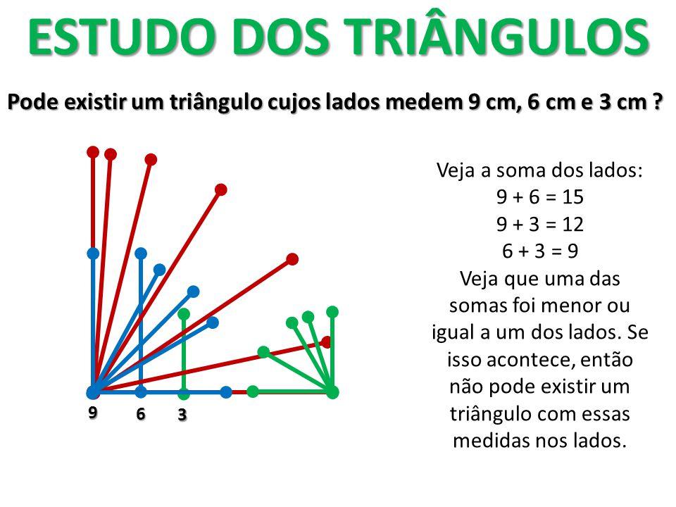 Classificação dos triângulos A matemática usa dois critérios para classificar os triângulos: Os ângulos e os lados.