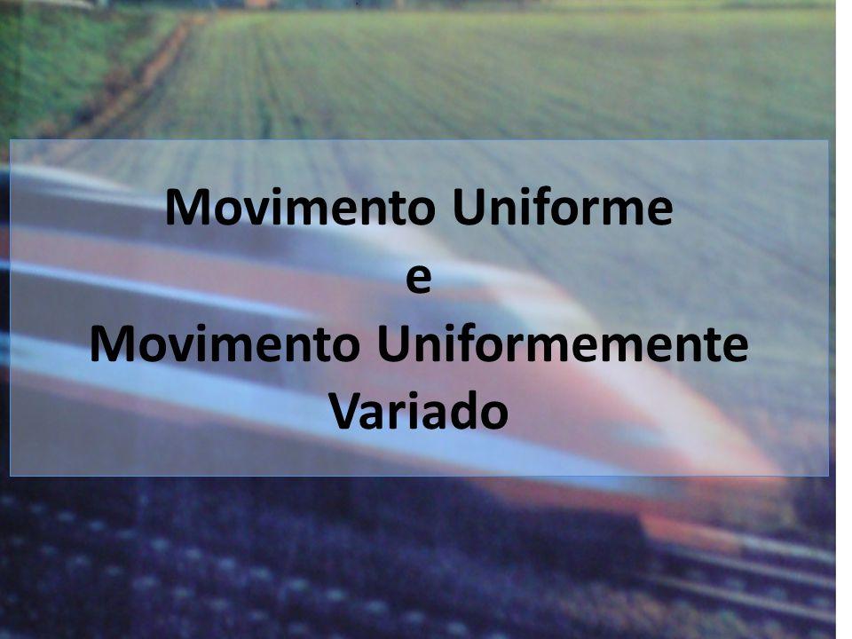 Velocidade Constante Aceleração nula Movimento Uniforme MU Velocidade Varia Aceleração diferente de zero Movimento Uniformemente Variado MUV