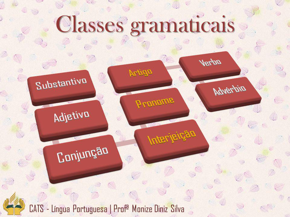 CATS - Língua Portuguesa | Profª Monize Diniz Silva Classes gramaticais