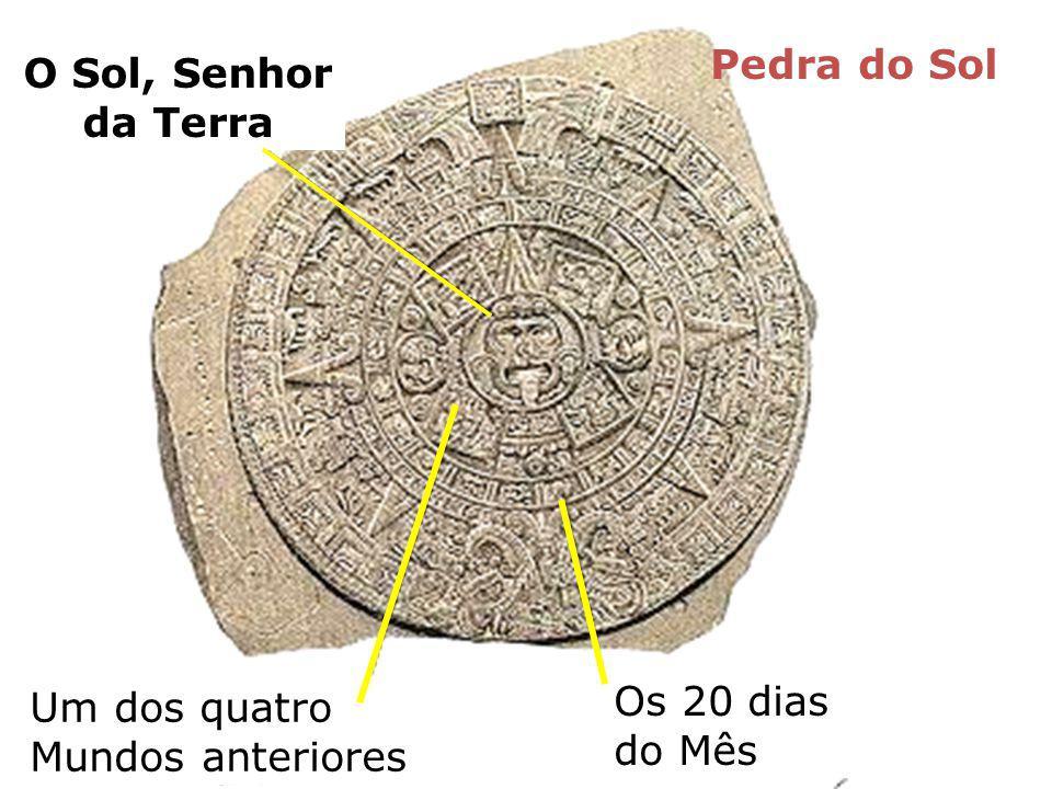 O Sol, Senhor da Terra Um dos quatro Mundos anteriores Os 20 dias do Mês Pedra do Sol