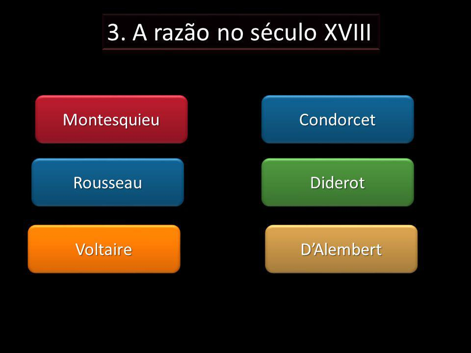 MontesquieuMontesquieu VoltaireVoltaire RousseauRousseauDiderotDiderot DAlembertDAlembert CondorcetCondorcet