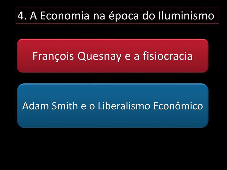 François Quesnay e a fisiocracia Adam Smith e o Liberalismo Econômico