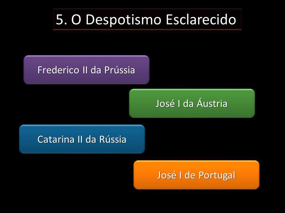 Frederico II da Prússia José I de Portugal José I da Áustria Catarina II da Rússia