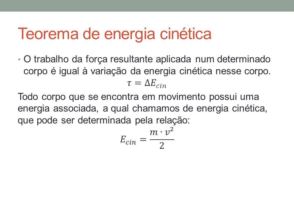 Teorema de energia cinética