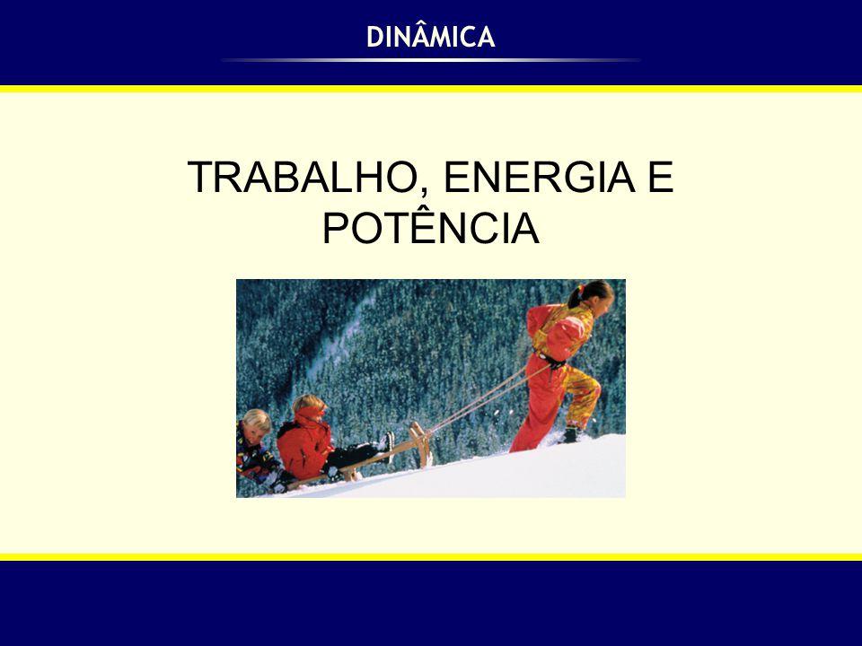 Trabalho, Energia e Potência Consideremos um corpo que se move em trajetória retilínea.