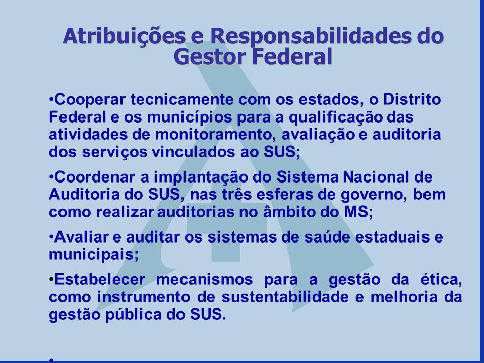 Cooperar tecnicamente com os estados, o Distrito Federal e os municípios para a qualificação das atividades de monitoramento, avaliação e auditoria do