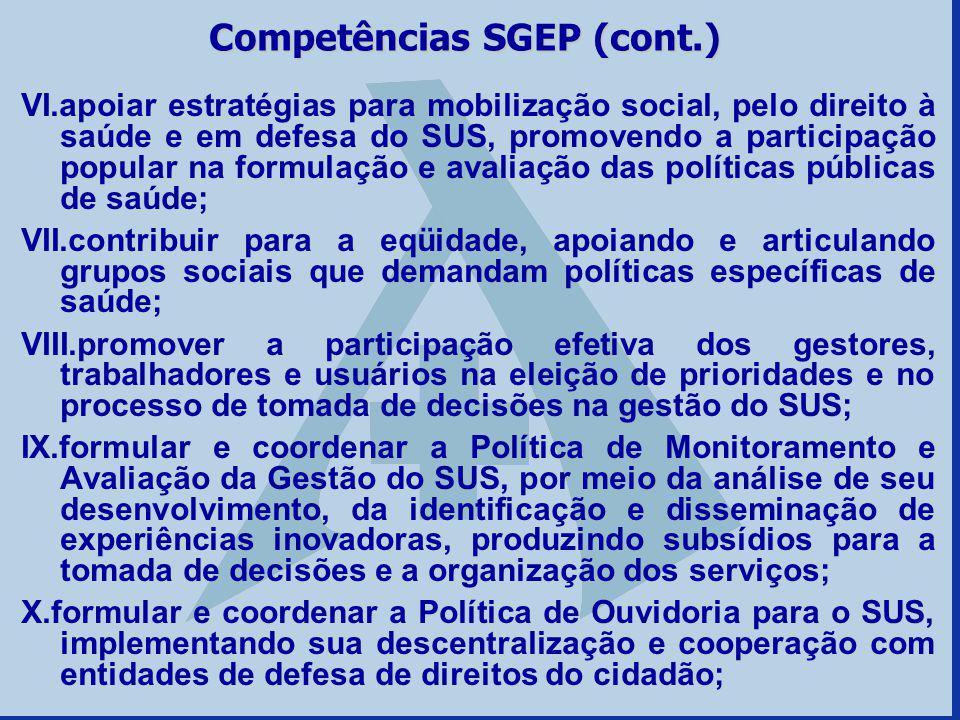 VI.apoiar estratégias para mobilização social, pelo direito à saúde e em defesa do SUS, promovendo a participação popular na formulação e avaliação da