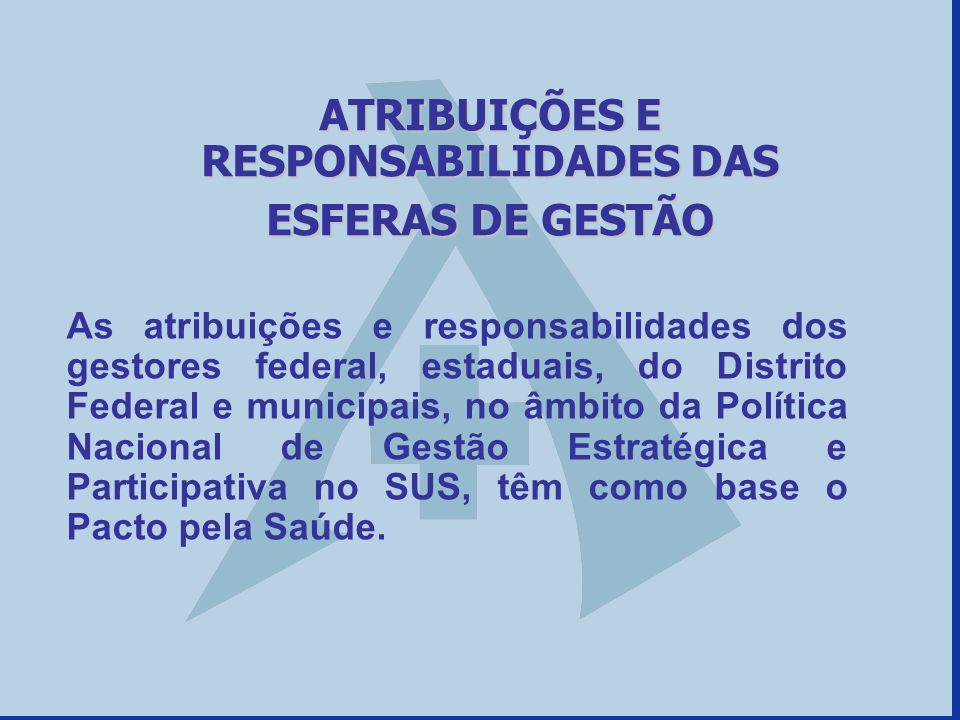 As atribuições e responsabilidades dos gestores federal, estaduais, do Distrito Federal e municipais, no âmbito da Política Nacional de Gestão Estraté