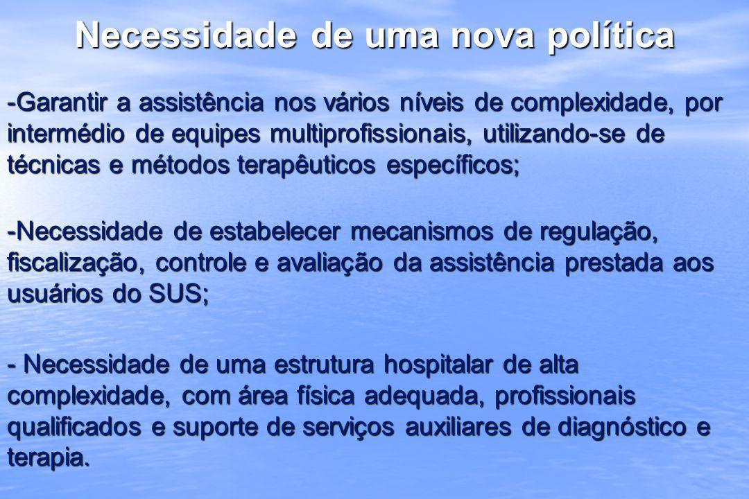 Elaboração da Política: Realização de uma oficina de trabalho, em 2003; Realização de uma oficina de trabalho, em 2003; Participantes: setores do MS envolvidos no processo, INTO, ANVISA, representantes das sociedades científicas; Participantes: setores do MS envolvidos no processo, INTO, ANVISA, representantes das sociedades científicas; Publicação da Política em 15/06/2004: Publicação da Política em 15/06/2004: - Portaria GM/MS nº 1.167 (REVOGADA) - Portaria GM/MS nº 1.167 (REVOGADA) - Portaria SAS/MS nº 213 e anexos - Portaria SAS/MS nº 213 e anexos - A resposta a esta política foi inexpressiva, tendo como fator importante a situação das redes para atendimento na área de Tráumato-Ortopedia, onde foi constatada a sua quase inexistência, salvo alguns esforços focais - A resposta a esta política foi inexpressiva, tendo como fator importante a situação das redes para atendimento na área de Tráumato-Ortopedia, onde foi constatada a sua quase inexistência, salvo alguns esforços focais