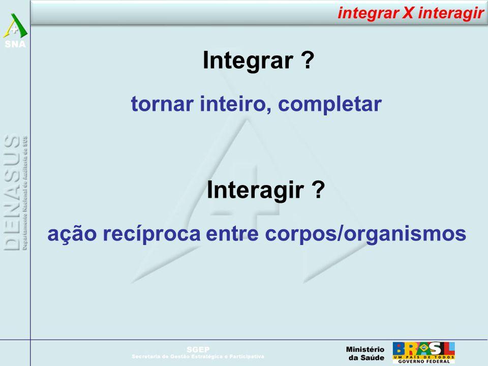 Integrar .tornar inteiro, completar Interagir .