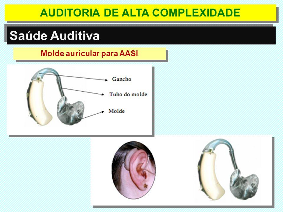 Saúde Auditiva Molde auricular para AASI