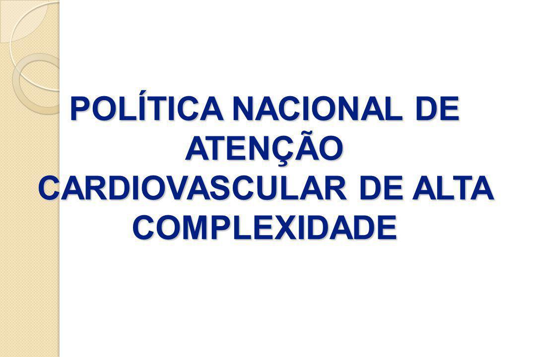 Freqüência de procedimentos com Assistência Cardiovascular no Brasil, de 2003 a 2007, conforme dados do SIH/DATASUS AnoFreqüência - Assistência Cardiovascular 2003 227.359 2004 231.308 2005 235.518 2006 230.576 2007 235.331