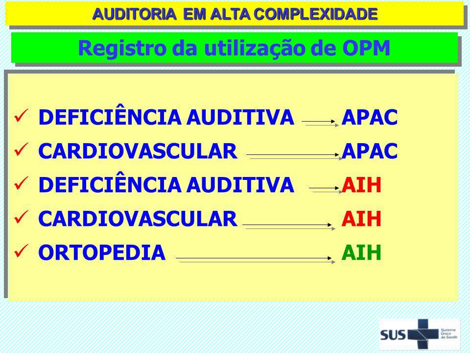 DOCUMENTOS NECESSÁRIOS PARA A FASE ANALÍTICA EM ALTA COMPLEXIDADE SIA/SUS - Relatório Demonstrativo de APAC Apresentadas