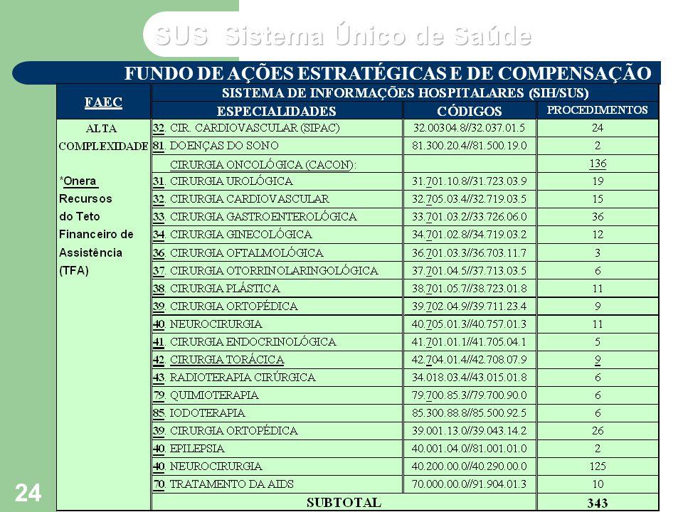 VP2 agosto/2003 Seminário de Atualização do SUS – NERJ - MS 24 FUNDO DE AÇÕES ESTRATÉGICAS E DE COMPENSAÇÃO