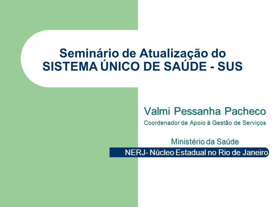 Seminário de Atualização do SISTEMA ÚNICO DE SAÚDE - SUS