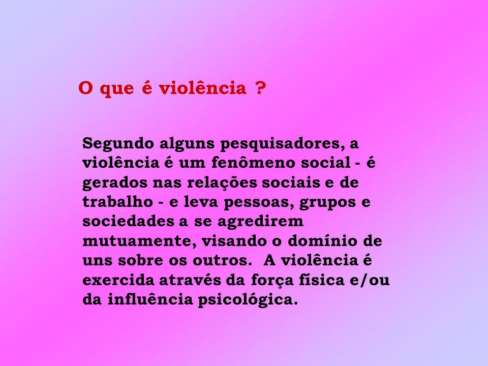 O que é violência .