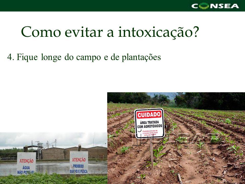 Como evitar a intoxicação? 4. Fique longe do campo e de plantações