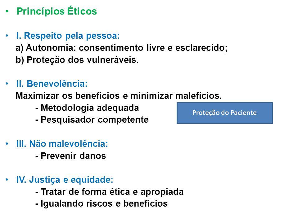 Princípios Éticos I.