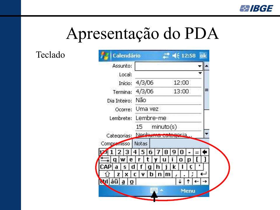 Apresentação do PDA Teclado