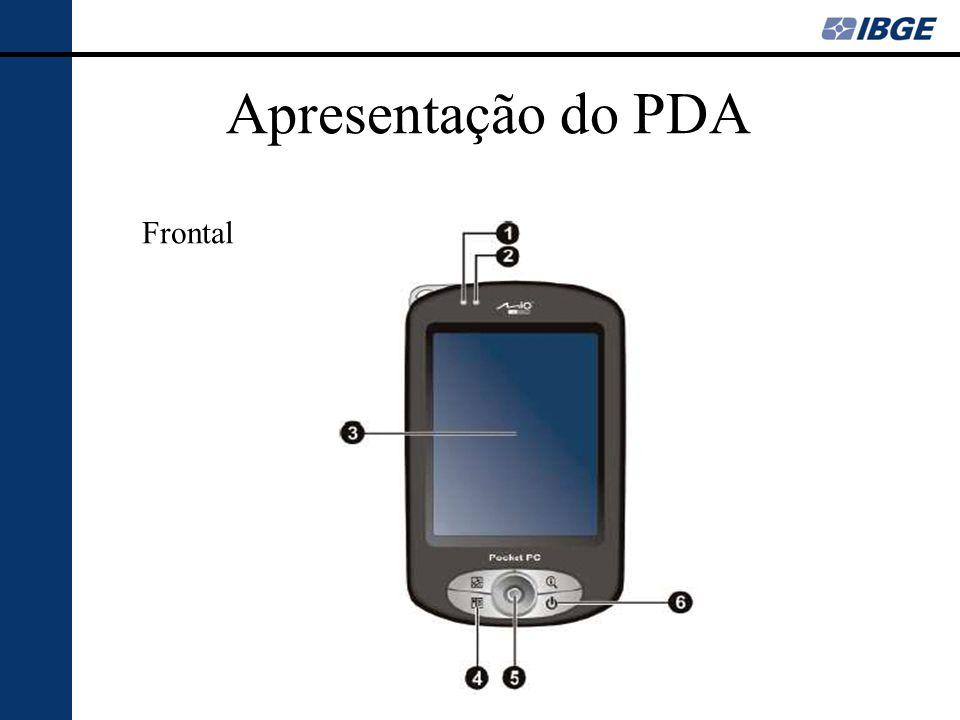 Apresentação do PDA Lateral esquerda