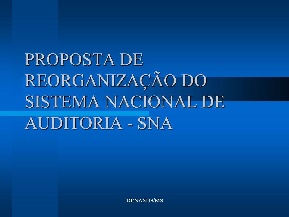 DENASUS/MS PROPOSTA DE REORGANIZAÇÃO DO SISTEMA NACIONAL DE AUDITORIA - SNA