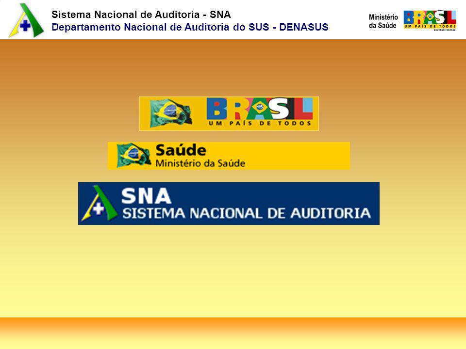 Sistema Nacional de Auditoria - SNA Departamento Nacional de Auditoria do SUS - DENASUS