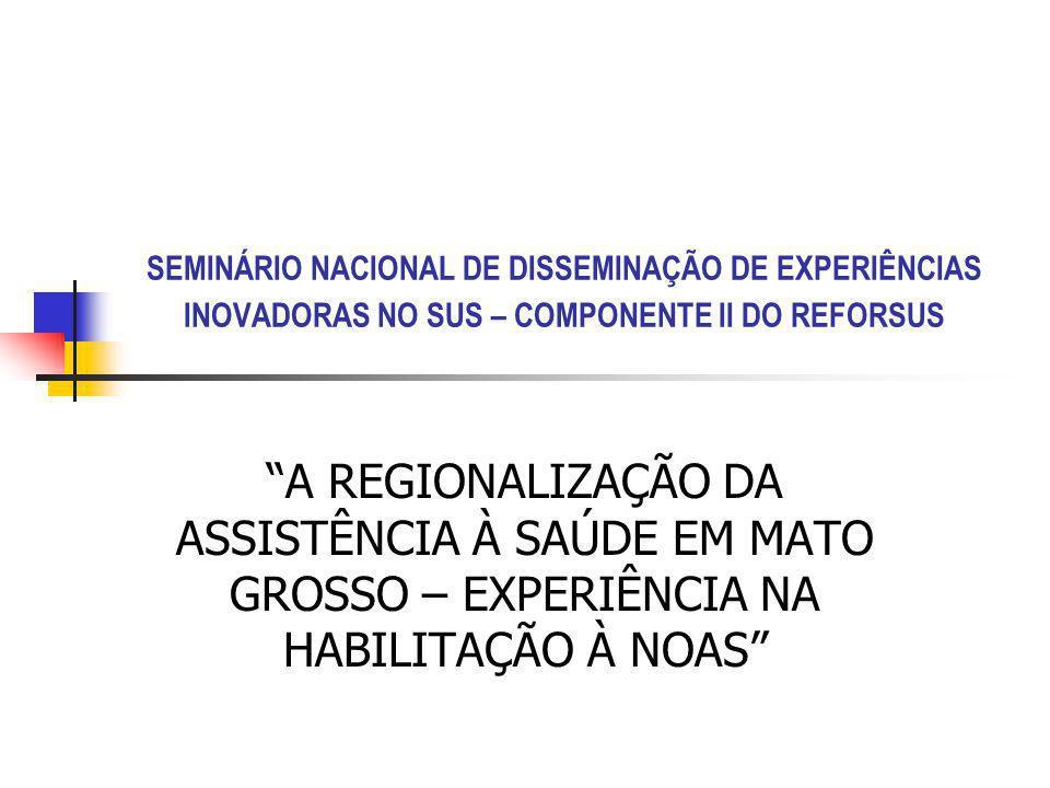 I – Antecedentes Históricos A experiência de regionalização da saúde de implantação da programação pactuada foi iniciada em 1995 e intensificada a partir de 1997.